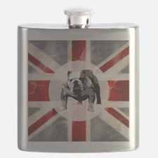 616 Union Jack Bulldog Montage for Cafe Pres Flask