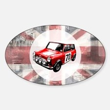 616 Union Jack Mini Montage for Caf Sticker (Oval)