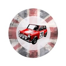 "616 Union Jack Mini Montage for Cafe P 3.5"" Button"