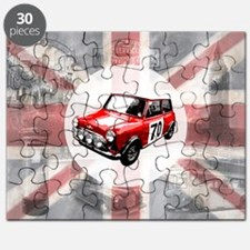 616 Union Jack Mini Montage for Cafe Press  Puzzle