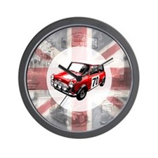 616 Union Jack Mini Montage for Cafe Pr Wall Clock