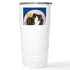 Greek Cuisine. Fresh Dolmades ( Travel Mug