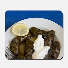 Greek Cuisine. Fresh Dolmades (VIne Leav Mousepad