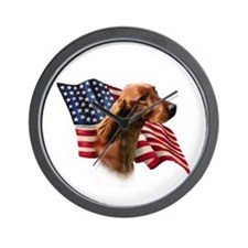 Irish Setter Flag Wall Clock
