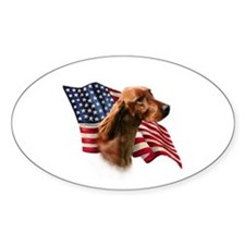 Irish Setter Flag Oval Decal