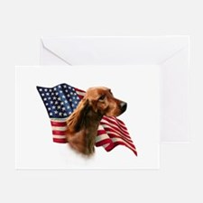 Irish Setter Flag Greeting Cards (Pk of 10)