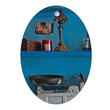 Amorgos. Family keepsakes adorn shel Oval Ornament