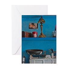 Amorgos. Family keepsakes adorn shel Greeting Card