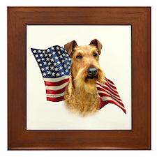 Irish Terrier Flag Framed Tile