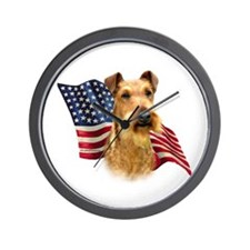 Irish Terrier Flag Wall Clock