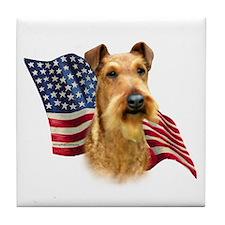Irish Terrier Flag Tile Coaster