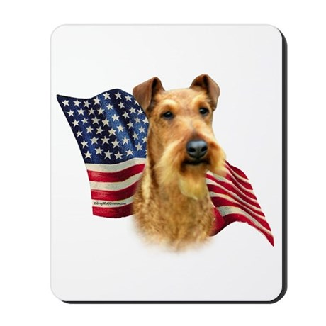 Irish Terrier Flag Mousepad