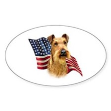 Irish Terrier Flag Oval Decal