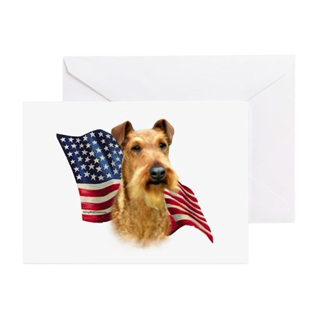 Irish Terrier Flag Greeting Cards (Pk of 10)