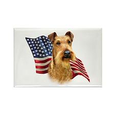Irish Terrier Flag Rectangle Magnet