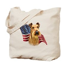 Irish Terrier Flag Tote Bag