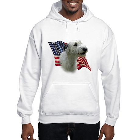 Irish Wolfhound Flag Hooded Sweatshirt