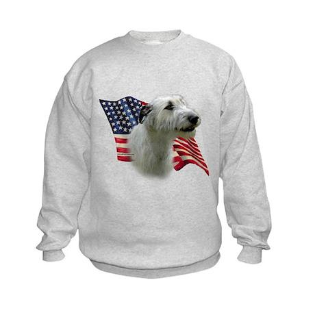 Irish Wolfhound Flag Kids Sweatshirt