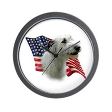 Irish Wolfhound Flag Wall Clock