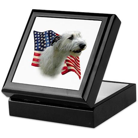Irish Wolfhound Flag Keepsake Box