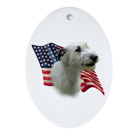 Irish Wolfhound Flag Oval Ornament
