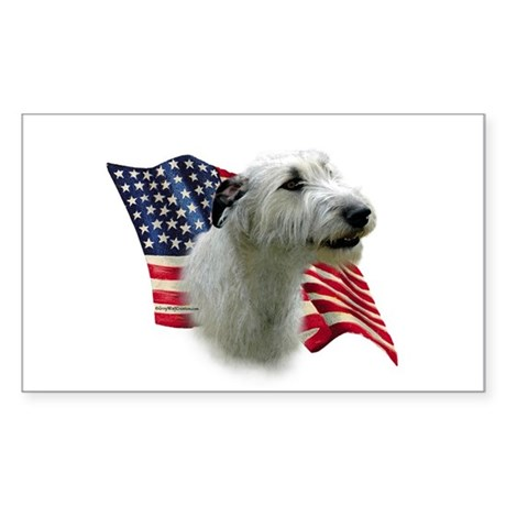 Irish Wolfhound Flag Rectangle Sticker