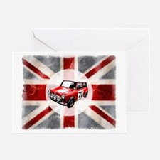 616 Union Jack Mini Montage for Cafe Greeting Card