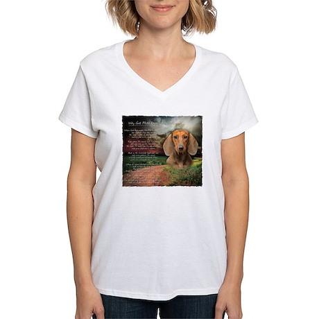 godmadedogs2 Women's V-Neck T-Shirt