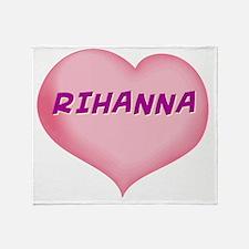 RIHANNA01 Throw Blanket