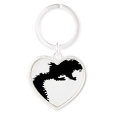 Fanged Squirrel Heart Keychain