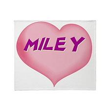 MILEY01 Throw Blanket