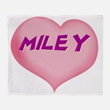 MILEY01 Throw Blanket