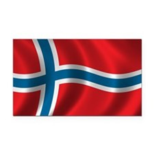 norway Rectangle Car Magnet