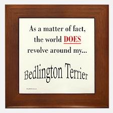 Bedlington Terrier World Framed Tile