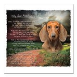 Dachshund Square Car Magnets