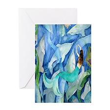 Dolphin  Mermaid Greeting Card