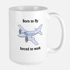 Born To Fly Forced To Work Mugs