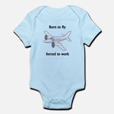 Born To Fly Forced To Work Body Suit