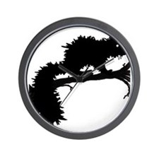 Fanged Squirrel on Branch Wall Clock