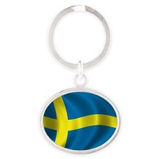 sweden Oval Keychain