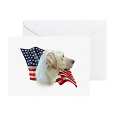 Yellow Lab Flag Greeting Cards (Pk of 10)