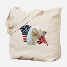 Yellow Lab Flag Tote Bag