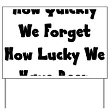 lucky Yard Sign