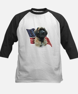 Leonberger Flag Kids Baseball Jersey