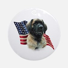 Leonberger Flag Ornament (Round)
