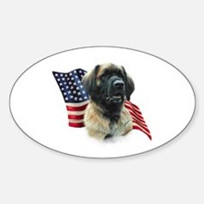 Leonberger Flag Oval Decal