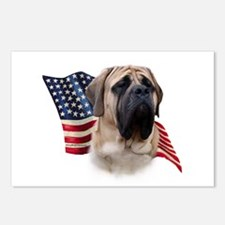 Mastiff(fawn) Flag Postcards (Package of 8)