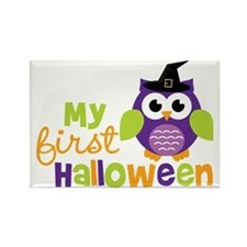 1stHalloweenOwl Rectangle Magnet