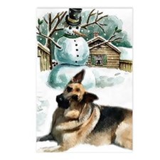 gsd snowman Postcards (Package of 8)
