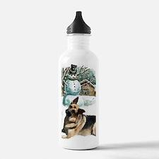 gsd snowman Water Bottle